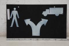 Hinweis Schild: Trennung Personen / Kfz