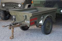 1-Achs Anhänger belg. Armee für Iltis Bombardier
