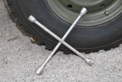 Radmutternschlüssel, Radkreuz, klein