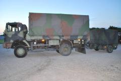 Lkw IVECO 110-17AW mit Anhänger TFK250 Kärcher