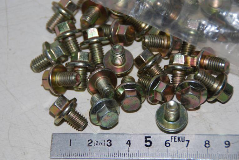 V2A Gewindeschrauben mit Sechskant-Muttern D/´s Items/® DIN 933 // DIN 934 Maschinenschrauben - Edelstahl A2 - 5 St/ück Sechskantschrauben mit Vollgewinde /& Sechskantmuttern M6x40
